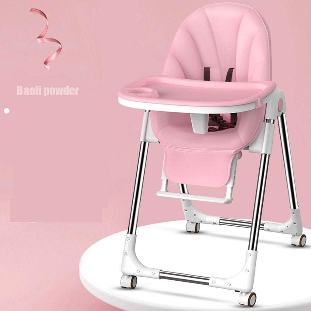 高い椅子、調節可能な折り畳み式ハイチェアシートの三つの異なる高さ位置は、可動トレイで、調整することができ、 JCXOZ (Color : A)