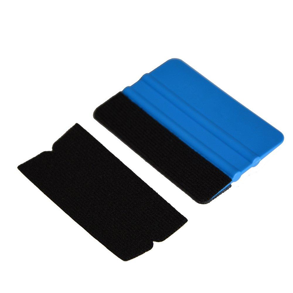 Ehdis/® 10x4.8cm Andr/ückrakel Zubeh/ör Stoff Filzkante Scratch Freie weiche nasse trockene Filz f/ür Car Wrapping Scraper 3M Andr/ückrakel 50PCS Nicht Andr/ückrakel inbegriffen Packung