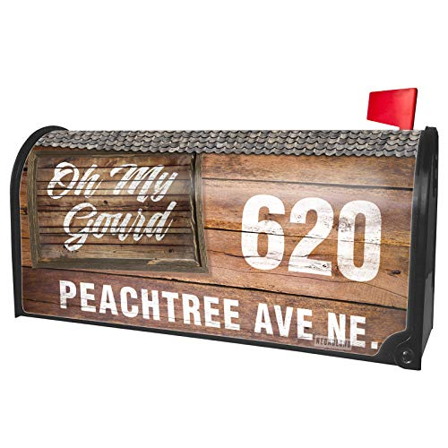 NEONBLOND Custom Mailbox Cover Painted Wood Oh My Gourd