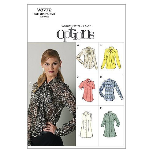 Vogue Patterns Misses Blouse 6 8 10 12 14 product image