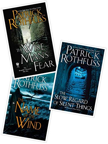 3 Book Set of The Kingkiller Chronicle Series (The Name of the Wind, Wise Man's Fear and The Slow Regard of Silent Things) (Patrick Rothfuss Name Of The Wind Series)