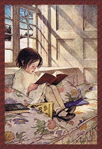 Buyenlarge Books in Winter by Jessie Willcox Smith Wall Decal, 48'' H x 32'' W by Buyenlarge