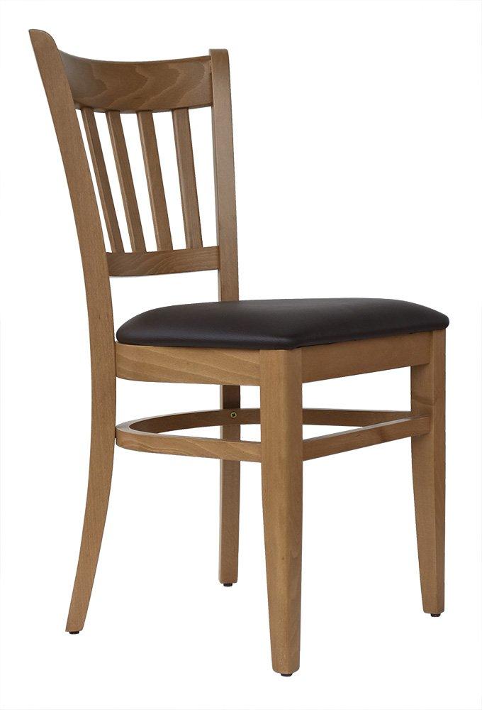 Abritus Set 2 Stühle Stühle Stühle Stuhl Buche massiv Honig-Eiche gepolstert braun »T002« 18ab39