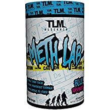 TLM Research   Meth Lab   Preworkout   High, Clinically-Dosed Formula   Intense Energy and Pump   (Blue Raspberry, 30 Servings)