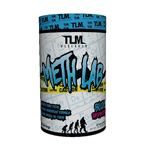 TLM Research Meth Lab Preworkout Clinically Dosed with 400 mg Caffeine, Theobromine, Higenamine, and Beet Root Nitrate for Intense Energy and Pump - 30 Serving