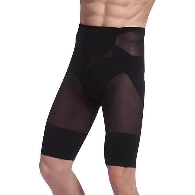 Yiiquan Pantalones Cortos de Deporte Moldeador con Hombre Ropa Interior Reductora Faja Moldeadora Reductora Adelgazante Cinturón
