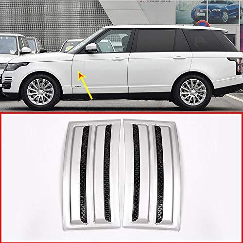 (CHEYA for Land Rover Range Rover Vogue SVO 2014-2018 ABS Matte Silver Black Car Side Door Fender Air Vents Trim)