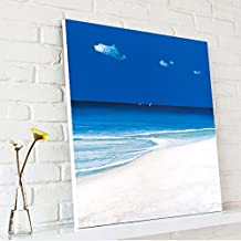 Blue Ocean One Panel Modern Canvas Prints Seascape Artwork Sea Beach Pictures to Photo Paintings on Canvas Wall Art Decor for Living Room Bedroom Home Decorations
