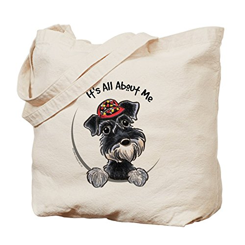 Schnauzer Natural (CafePress - Boy Schnauzer IAAM - Natural Canvas Tote Bag, Cloth Shopping Bag)