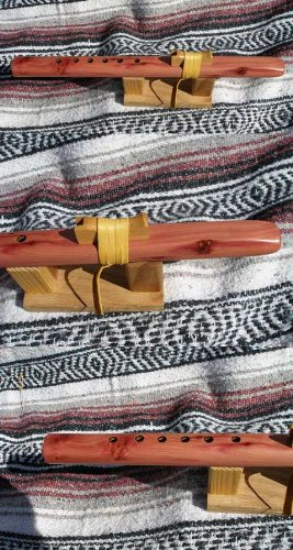 Key of High C 6-hole Cedar Flute by Windpony