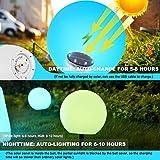 LOFTEK Solar Floating Pool Lights Ball, 8-inch 16