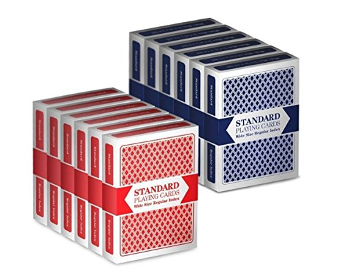 12 Decks  Wide-Size, Regular Index Playing Cards Set, Classi