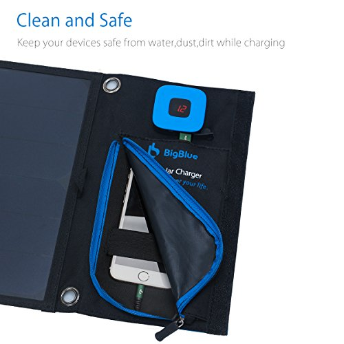 BigBlue-New-28W-Portable-Solar-Charger-2-Port-USB-4-Waterproof-Solar-Panels-with-Digital-Ammeter-and-Zip-for-Protection-for-Rechargeable-USB-Devices-iPhone-Android-GoPro-Etc-28W-New-Version