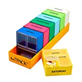 Borin-Halbich The 7Pack® 7 Day 3 Compartment Pill Organizer with Deep Orange Tray (Made in the USA)