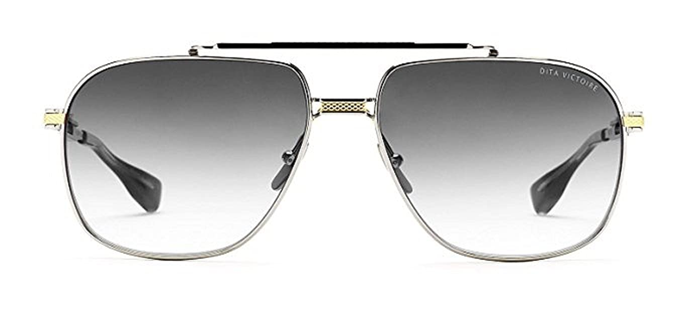 3cb54169805 Dita Victoire DRX 2049 Gold   Silver Pilot Sunglasses 60mm with Grey lens  Silver Flash  Amazon.co.uk  Clothing