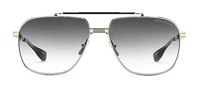 Dita Victoire DRX 2049 Gafas de sol piloto de oro / plata de ...