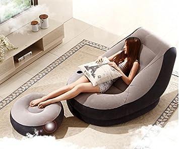 CCZLL Lazy Siesta sofá Cama Inflable Individual balcón ...