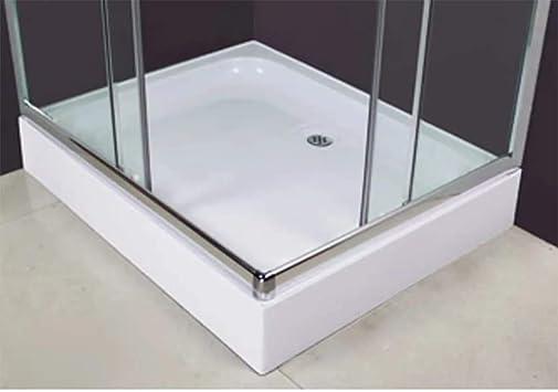 vidaXL Mampara Ducha con Placa Rectangular 100x80x185 cm Baño Aseo ...