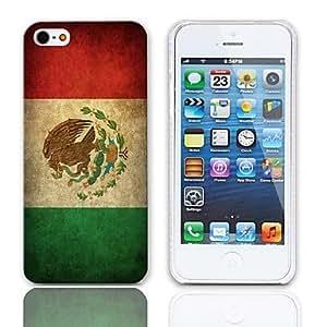 CL - Vintage El patrón de la bandera mexicana del estuche rígido con paquete de 3 protectores de pantalla para iPhone 5/5S