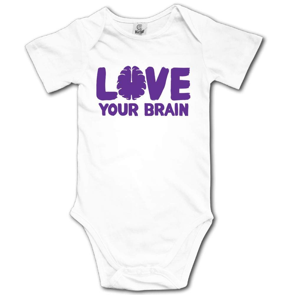 Baby Short Sleeves Triangle Romper Bodysuit Onesies Infant Toddler Love Your Brain Climbing Clothes Outfits