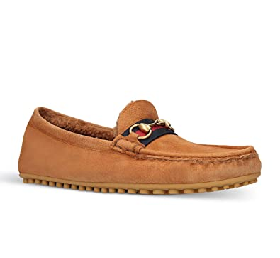 42c5532503a Amazon.com  Gucci Men s Suede with Shearling Driver