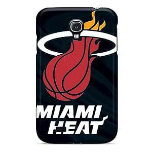 Galaxy S4 ZSj17763yFNm Customized Trendy Miami Heat Pattern Great Hard Phone Cases -CassidyMunro