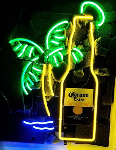 """Urby Brand New 19"""" Corona Extra Bottle Neon Sign Beer Bar Pub Man Cave Business Glass Neon Lamp Light FE06"""