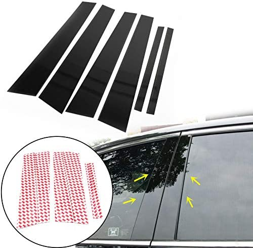 For Honda Civic 06-11 Mirror Effect Window Pillar Posts Cover Trim 6 Pcs Durable