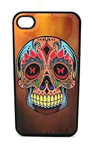 BLACK Snap On Case iPhone 6 4.7 for kids Plastic - Dope Brown BG Sugar Skull Day of the Dead