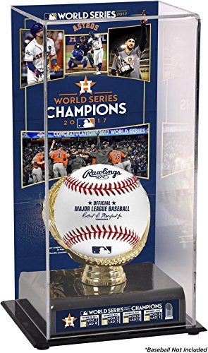 Houston Astros 2017 MLB World Series Champions Sublimated Display Case with Image - Fanatics Authentic Certified