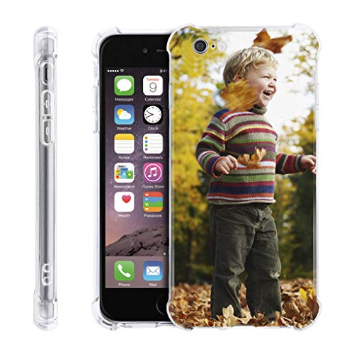 Greenery Clear iPhone 6/6S Case,Personalzied Custom Picture Cellphone Case, DIY HD Print Photo Transparent Cover Case Soft Thin Slim Shock Absorbing Rubber Silicone Gel Cover Protective Bumper Case
