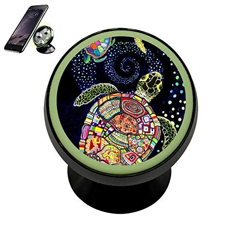 Indian Pattern Sea Turtle Cellpone Kit Cradle Stand Vehicle Dashboard Disonnect with Night Lights Holder Magnetic for All Kinds of Cell Phones