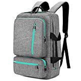 SOCKO 17 Inch Laptop Backpack with Side Handle and Shoulder Strap,Travel Bag Hiking Knapsack Rucksack College Student Shoulder Back Pack For Up to 17 Inches Laptop Notebook Computer, Grey-Green