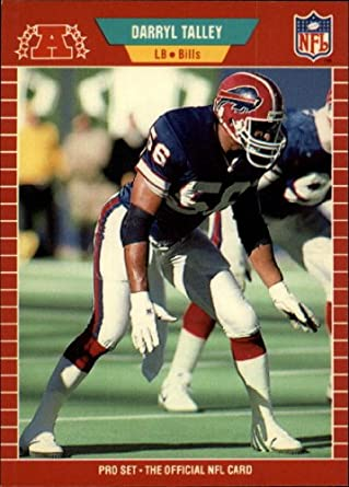 Amazon 1989 Pro Set Football Card 31 Darryl Talley Mint Collectibles Fine Art