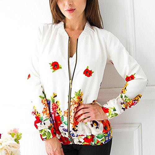 Coat Zippe Court Femme Casual Blouson Outwear Jacket Tops Bonboho Blouson p6AqwTRwY