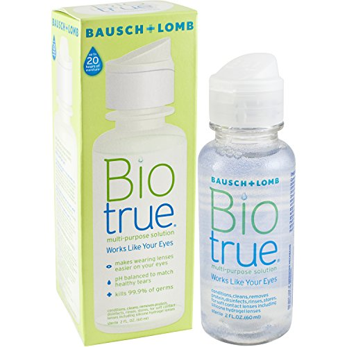 Biotrue Multi-Purpose Contact Lens Solution, 2 Fl Oz (Pack of 4) (Contact Lenses Case Clean)