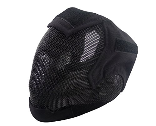 Airsoft Mask Full Face Mask War Game Steel Mesh Protective Mask