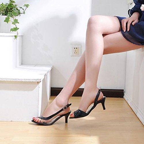 Cinturino Sera Chenyang Tacco Sintetico Nero Scarpe Alla Cinghietti Caviglia Donna Basso 1nZHwqI