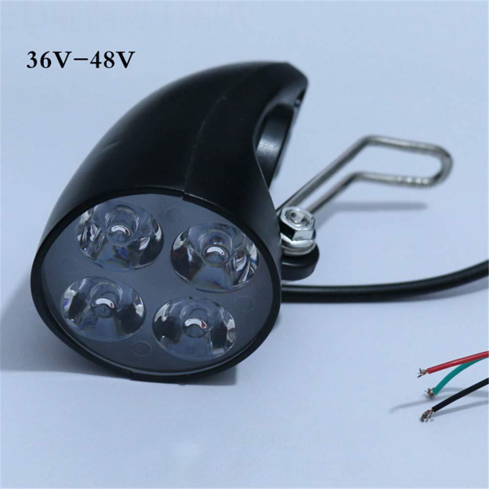 Amazon.com: Flycoo2 36 V-48 V luz delantera LED faro con ...
