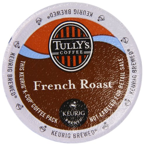 French Medium Roast Coffee - Keurig, Tully's, French Roast Coffee, K-Cup Counts, 50 Count