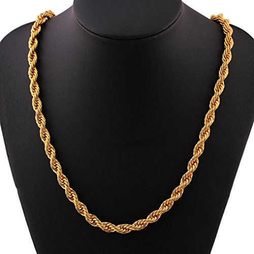 Curb Chain Cover (Creazy Luxury Filled Curb Cuban Link Gold Necklace Jewelry Chain Gifts! (b))