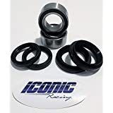 88-00 Honda TRX300FW TRX 300 FW Fourtrax 4x4 BOTH Front Wheel Bearing and Seal Kits (4x4 only)