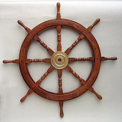 Amazon Com 36 Nautical Wood Ship Wheels Sports Outdoors
