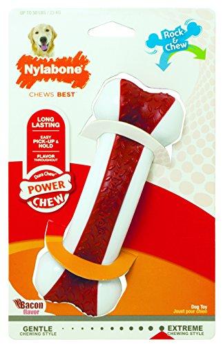 Nylabone Dura Chew Arch Bone Rock & Chew Bacon Flavor Dog Chew Toy