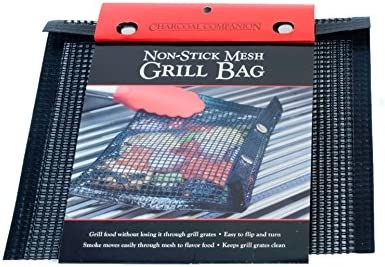 4 Pack Non-Stick Bbq Grill Bag Grill Reusable And Easy To Clean Non-Stick Grid Grill Bag With Brush TOOGOO Bbq Grill Mesh Bag