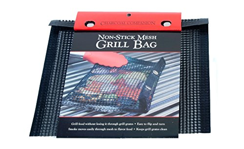 Charcoal Companion CC4142 Medium Non-Stick Mesh Grilling Bag