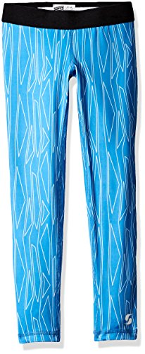 Soffe Big Girls' Dri Legging, Cobalt Boomerang, Medium