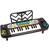 DUWEN Keyboard Children's Keyboard Enlightenment Play Early Learning 1-3-6 Years Old Black Multifunctional Keyboard (Battery Edition)