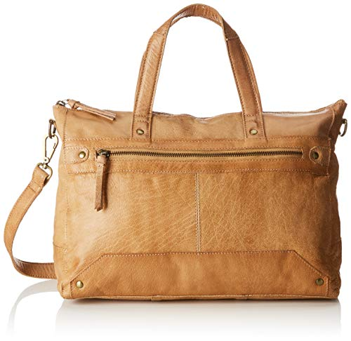 Shoulder and Bags Donna natura Beige Pcbecky Leather Bag Shoppers Pieces nRXq6X