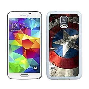 Samsung Galaxy S5 Case,2015 Hot New Fashion Stylish Captain America Shield White Case Cover for Samsung Galaxy S5 i9600